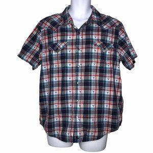 Cody James Patriotic Longhorn Western Shirt Large